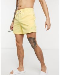 Узкие Шорты Для Плавания Желтого Цвета С Логотипом-игроком -желтый Polo Ralph Lauren для него, цвет: Yellow