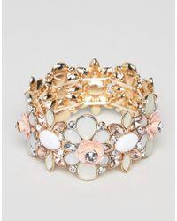 True Decadence - Metallic True Decadance Blush Embellished Bracelet - Lyst
