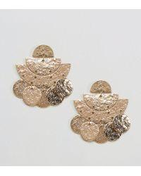 ASOS | Metallic Hammered Metal Earrings | Lyst