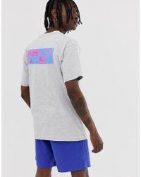 T-shirt effetto rovescio grigia di Obey in Gray da Uomo