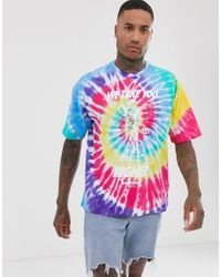 T-shirt multicolore tie-dye - di Nike in Blue da Uomo