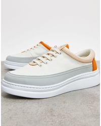 Белые Кожаные Кроссовки Со Вставками -белый Camper, цвет: White