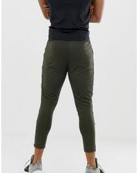 ASOS 4505 Green Super Skinny Training Sweatpants With Zip Cuff In Khaki for men