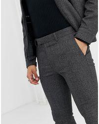 Topman Gray Coord Skinny Smart Pants for men