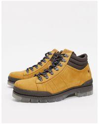 Светло-коричневые Кожаные Походные Ботинки -светло-коричневый Jack & Jones для него, цвет: Multicolor