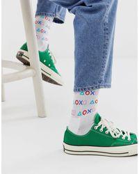 Calcetines deportivos con estampado ASOS de hombre de color White