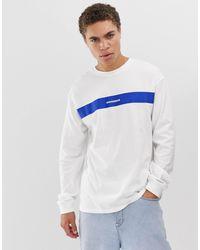 Mennace White Long Sleeve T-shirt for men