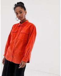 Camisa de pana en naranja de ASOS de color Orange