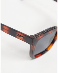 Gafas de sol con lentes cuadradas Icy de Quay de color Brown