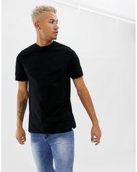 Pull&Bear Black Organic Cotton T-shirt for men