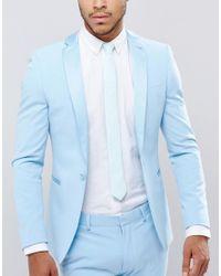 ASOS | Green Slim Tie In Mint Texture for Men | Lyst
