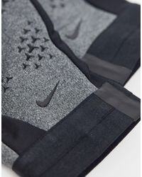 Nike Football Gray Academy Hyperwarm Gloves for men