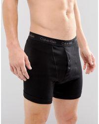 Calvin Klein Black Button Fly Boxer Trunks for men