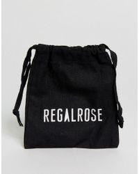 Regal Rose - Metallic Veronica Large Hoop Cross Earrings - Lyst