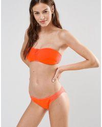 Stella McCartney - Orange Neoprene & Mesh Hipster Bikini Bottom - Lyst