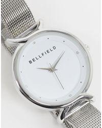 Bellfield Metallic – Uhr mit Netzstoffarmband