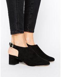 New Look Black Sling Back Block Heel