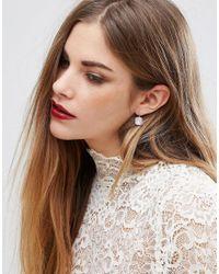 ALDO - Metallic Drop Gold & Glass Square Earrings - Lyst