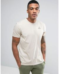 Le Coq Sportif | Natural Tricolor Sleeve T-shirt With Small Logo In Beige 1711063 for Men | Lyst