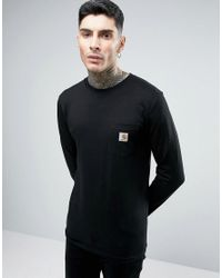Carhartt WIP Black Pocket Long Sleeve T-shirt for men