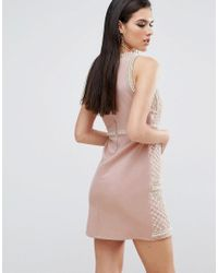 A Star Is Born - Multicolor Embellished Mini Dress With Floral Embroidery - Lyst