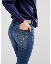 Blend She - Blue Glow Sally Skinny Jeans - Lyst