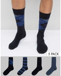 Tommy Hilfiger | Blue 4 Pack Socks Gift Box Navy for Men | Lyst