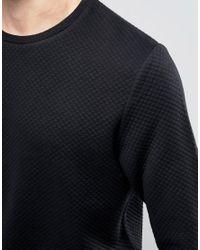 Jack & Jones - Black Premium Quilted Sweatshirt for Men - Lyst