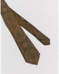 ASOS - Tie In Green Paisley for Men - Lyst