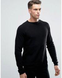 Threadbare Black Turtle Neck Knit Jumper for men