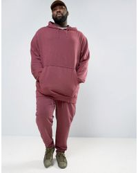 PUMA - Red Plus Cropped Joggers In Burgundy Exclusive To Asos 57530801 for Men - Lyst