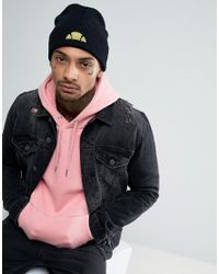 Ellesse | Black Beanie With Small Logo for Men | Lyst