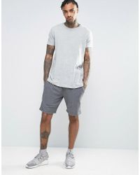 DIESEL | Gray Lounge Shorts Regular Fit Grey for Men | Lyst