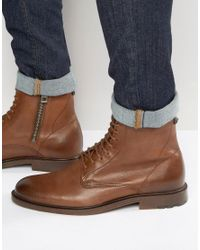 BOSS Orange Brown By Hugo Boss Cultroot Halb Lace Up Boots for men