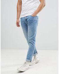 Bershka Blue Slim Jeans for men