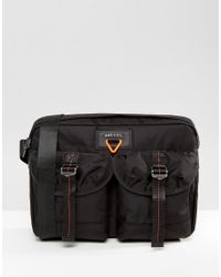 DIESEL | Military Satchel Bag Black for Men | Lyst