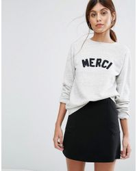 Whistles | Multicolor Merci Embroidered Sweatshirt | Lyst