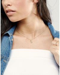 Orelia Metallic Gold Plated Large S Initial Necklace