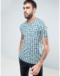 YMC   Blue Soft Dot Wave Print T-shirt for Men   Lyst