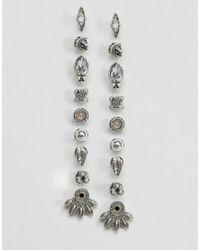 New Look - Metallic 9 Pack Boho Stud Earrings - Lyst