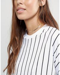 ASOS | Metallic Fine Chain Choker Necklace | Lyst