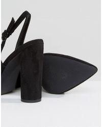New Look Black Cylindrical Heeled Sling Back Shoe