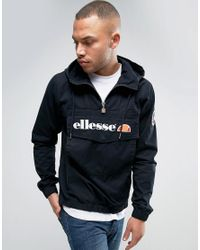 Ellesse Overhead Jacket In Black For Men Lyst