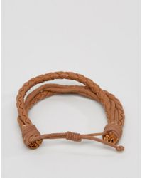 Jack & Jones | Brown Jacpeter Wrap Bracelet In Tan for Men | Lyst