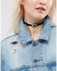 ASOS | Metallic Western Buckle Choker Necklace | Lyst