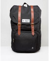 Original Penguin Twin Strap Pearl Backpack in Black for Men - Lyst 367d75aea984e