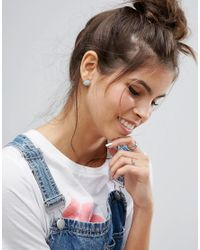 ASOS - Blue Mini Cloud Stud Earrings - Lyst