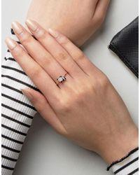 ASOS Metallic Panda Ring