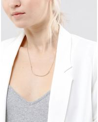 SELECTED | Metallic Gold Bar Necklace | Lyst