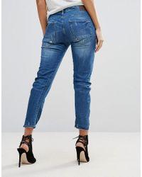 G-Star RAW Blue Arc-z 3d Kate Low Waisted Boyfriend Eslow Jeans